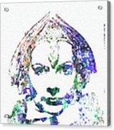 Greta Garbo Acrylic Print by Naxart Studio
