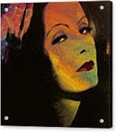Greta Garbo Pop Art Acrylic Print