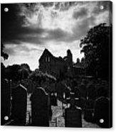 Greyabbey Abbey And Graveyard Cemetary County Down Ireland Acrylic Print