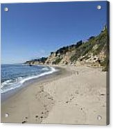Greyhound Rock State Beach Panorama - Santa Cruz - California Acrylic Print by Brendan Reals
