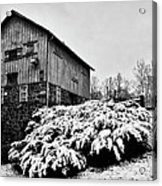Grist Mill In Winter - Hdr Acrylic Print