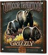Grizzly Traditions Acrylic Print by JQ Licensing