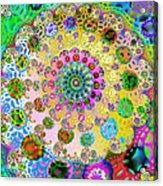 Groovy Acrylic Print by Sharon Lisa Clarke