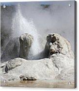 Grotto Geyser Eruption, Upper Geyser Acrylic Print