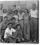 Group Of Jewish Immigrants Harvesting Acrylic Print