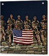 Group Photo Of U.s. Marines Acrylic Print