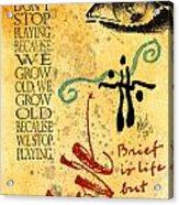 Growing Up Gracefully Acrylic Print