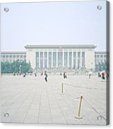 Grteat Hall Of The People In Beijing In China Acrylic Print