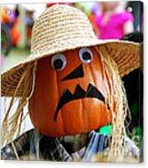 Grumpy Pumpkin Acrylic Print
