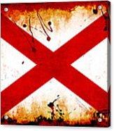 Grunge Style Alabama Flag Acrylic Print