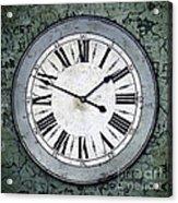 Grungy Clock Acrylic Print