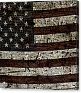 Grungy Wooden Textured Usa Flag2 Acrylic Print