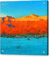 Guadalupe Mountains Sunset Acrylic Print