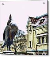 Guard Pigeon And Liberty Theater Acrylic Print