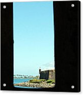 Guard Tower View Castillo San Felipe Del Morro San Juan Puerto Rico Acrylic Print by Shawn O'Brien