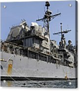 Guided Missile Cruiser Uss Bunker Hill Acrylic Print