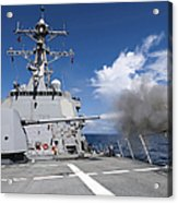 Guided-missile Destroyer Uss Pinckney Acrylic Print