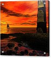 Guiding Light - Lighthouse Art Acrylic Print