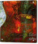Guitar ..abstract  Acrylic Print
