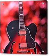 Guitar In Red Acrylic Print by Sophie Vigneault