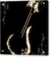 Guitar Music Poster Acrylic Print