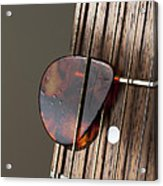 Guitar Neck Frets And Pick Acrylic Print
