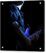 Guitarist In Blue Acrylic Print