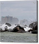 Gulf Of Mexico - More Waves Acrylic Print