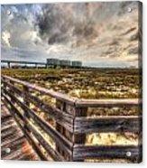 Gulf State Park Boardwalk Corner Acrylic Print