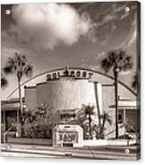 Gulfport Casino In Sepia Acrylic Print