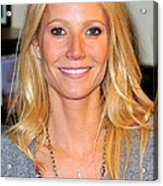 Gwyneth Paltrow At In-store Appearance Acrylic Print by Everett