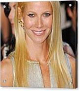 Gwyneth Paltrow Wearing Louis Vuitton Acrylic Print