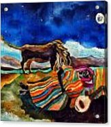 Gypsy Tribute To Henri Rousseau Acrylic Print by Sandra Kern