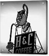 H And C Coffee Acrylic Print