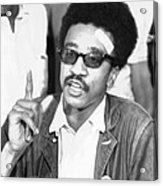 H. Rap Brown, Chairman Of The Student Acrylic Print by Everett
