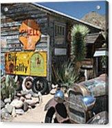 Hackberry Signs   Arizona Route 66 Acrylic Print