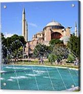 Hagia Sofia In Istanbul Acrylic Print by Artur Bogacki