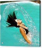 Hair Fling Acrylic Print