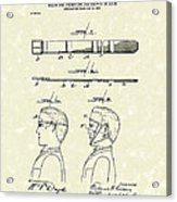 Hair Growth System 1903 Patent Art Acrylic Print
