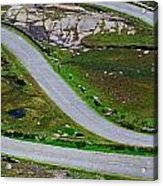 Hairpin Bends In The, Healy Pass, Beara Acrylic Print