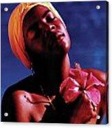 Haitien Hibiscus Beauty Acrylic Print