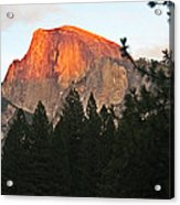 Half Dome Alpenglow Acrylic Print