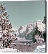 Half Dome In The Snow Acrylic Print