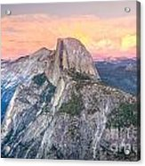 Half Dome Sunset Acrylic Print