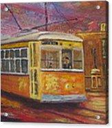 Halifax Trolley Acrylic Print