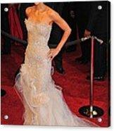 Halle Berry Wearing Marchesa Dress Acrylic Print by Everett