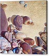 Hallett Cove's Stones Acrylic Print by Elena Kolotusha