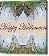 Halloween Fantasmagorical Cicada Card Acrylic Print
