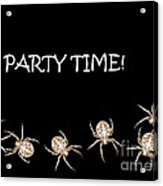 Halloween Greetings. Spider Party Series #01 Acrylic Print