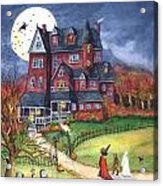 Halloween Haunted Mansion Acrylic Print by Iva Wilcox